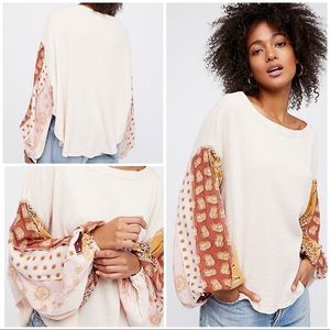 NWT Free People Blossom Thermal Ballet Combo Shirt